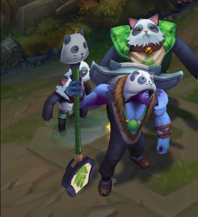 LOL:掘墓者喵裡克炫彩皮膚曝光!網友:帶墨鏡過分了呀!