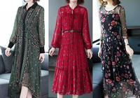 """70後女人,多穿這""""雪紡碎花裙"""",給人的感覺很溫柔優雅"""