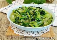 韭菜炒萵苣