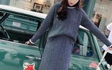 過膝毛衣裙過時了,最流行:毛衣+半身裙,時髦又洋氣,將真是美