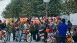 陝西渭南街頭之民工市場 宋渭濤攝影