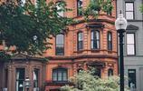 紅磚砌成的波士頓住宅街道