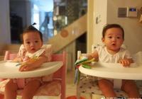 楊威家的雙胞胎越長越不一樣,一個淑女一個女漢子,惹得爸爸感慨