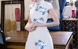 今年流行穿改良旗袍連衣裙,濃郁中國風,不挑年齡,盡顯東方美