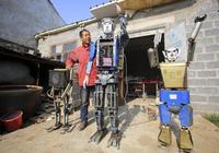 臨沂一農民初中沒畢業痴迷造機器人,花光家裡積蓄換來國家專利