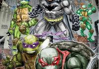 蝙蝠俠單挑四大忍者神龜,神龜打不過,被斯普林特老師救走