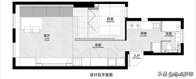 晒晒28㎡小公寓房,臥室做榻榻米,走廊做衣櫃,全屋設計太實用!