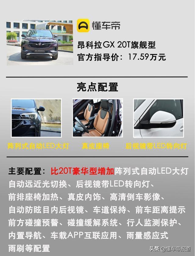 推薦昂科拉15T舒適/昂科拉GX 20T豪華 全新昂科拉家族購車手冊