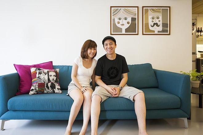 幸福的兩口之家,飄窗設計的很有意思,還滿足了收納的需求