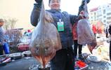 90後海鮮攤主進了幾筐大魚 一條十四五斤 為賣得快他只好切開賣
