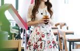 唯美浪漫的印花圖案雪紡連衣裙,簡潔大氣讓你秒變優雅女神