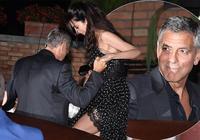 喬治·克魯尼威尼斯電影節,和妻子浪漫約會,克魯尼全程盯著那看
