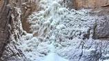 河南安陽:太行山裡的冬景,高山懸冰,雪中桃花、聖誕樹,你見過嗎
