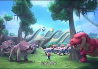 豬豬俠恐龍日記 豬豬俠穿越恐龍世界 被特暴龍狂追