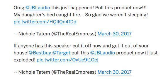 JBL迴應新澤西州起火無線音箱並非其產品