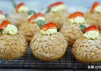 草莓脆皮泡芙 做法簡單易學  口感香甜酥脆  趕快動手做起來吧
