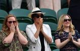 公爵夫人梅根·馬克爾觀看小威廉姆斯溫網比賽圖集