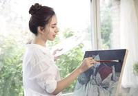愛畫畫的女生被公認有魅力、氣質,交一個愛畫畫的女朋友簡直幸福