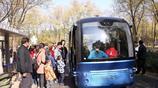 """北京首個""""人工智能""""落戶海淀公園,無人巴車吸引眾多市民體驗"""