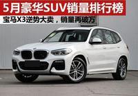5月豪華SUV銷量十強榜!寶馬X3破萬輛,普拉多賣了3711輛