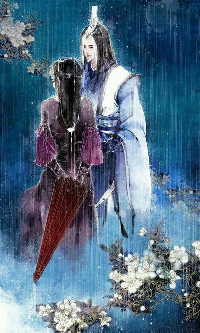 【古風圖集】都說你眼中開傾世桃花,卻如何一夕桃花雨下。