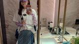 廣州恆大隊員郜林的老婆近日晒出自己最新的自拍照片