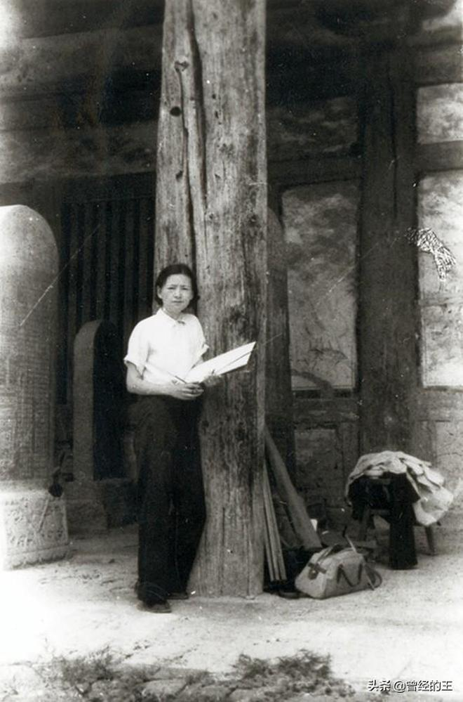 一組老照片:工作中的民國才女林徽因,後面3張是她的手稿手繪畫