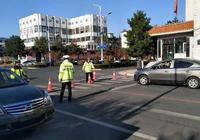 長假我在崗 圖們公安交警大隊開展延邊富德足球俱樂部國際邀請賽道路交通安保