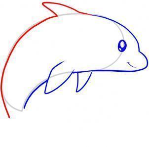 如何畫海豚