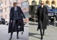 大衣搭配西裝外套讓你帥氣有範兒,今年冬天做個氣場十足的女神