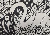 漂亮的創意黑白線描畫課件作品,講解每幅作品