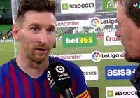 梅西:感謝貝蒂斯主場球迷們對我進球的掌聲