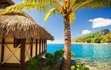 風景圖集:海天一色的波拉波拉島