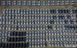 海關監管千輛進口車 鳥瞰像俄羅斯方塊