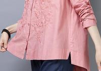 中年女人有福了:穿上棉麻大碼衫照樣美,件件美嫩遮肉,人見人誇