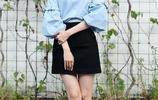 林允兒淡藍色的搭配著裝美人甜美優雅的氣質盡顯