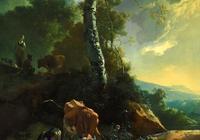 """油畫裡的""""放牧""""風景,很繁榮很唯美"""