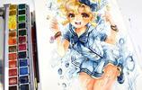來圍觀一下什麼叫水彩繪畫大神!這個大佬的手繪同人作品相當唯美