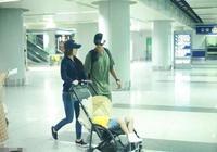 杜江嗯哼父子錄完《爸爸5》返京,霍思燕接機杜江甜蜜送吻