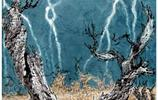 張凌超畫家《大漠滄海里的胡楊》