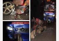 1司機死亡!荊門某路段三輪車與大貨車相撞