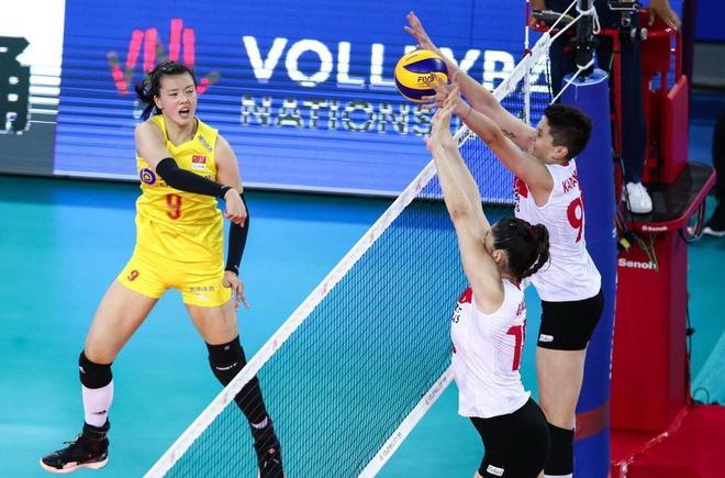 朱婷暴扣一錘定音 顏妮攔網銅牆鐵壁 中國女排3比0土耳其取9連勝