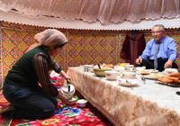 那杯茶,在哈薩克族的氈房裡