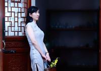 旗袍攝影:棉布旗袍