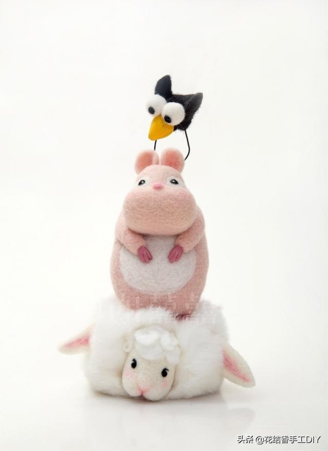 哇嗚,超可愛的小萌物,原來都是羊毛氈做的,DIY手工樂趣多