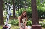韓國健美女神崔雪華性感出鏡,逆天顏值秀出一字馬