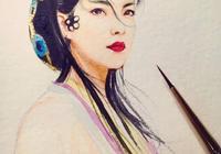 一組手繪水彩女孩,古風現代都有丨水彩人物插畫欣賞