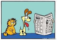 加菲貓漫畫|每個人身邊都有這樣一個好朋友:很二,但很歡樂!我的那個叫歐迪