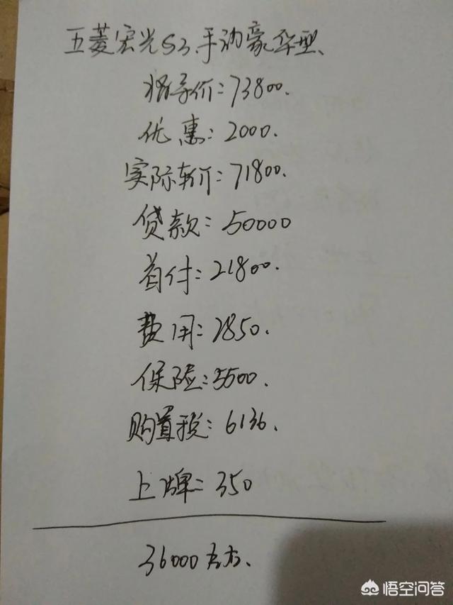 五菱宏光s3手動豪華型,包括上牌保險要多少錢才買得到?
