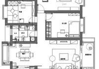 136平米簡美風格三居,裝修太美了,一道中式屏風讓家居大為增色